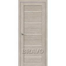 Дверь BRAVO Свит-22 ДО 3D Cappuccino со стеклом Magic Fog
