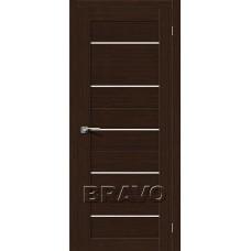 Дверь BRAVO Свит-22 ДО 3D Wenge со стеклом Magic Fog