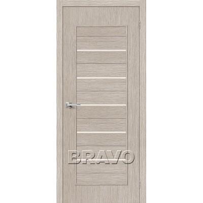 Дверь BRAVO Тренд-22 ДО 3D Cappuccino со стеклом Magic Fog