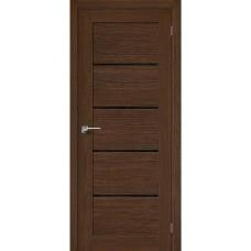 Дверь шпонированная BRAVO MR.WOOD Вуд Модерн-22 ДО Golden Oak со стеклом Black Star