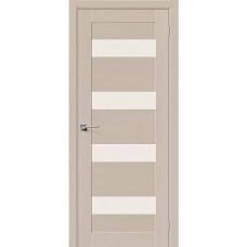 Дверь шпонированная BRAVO MR.WOOD Вуд Модерн-23 ДО Latte со стеклом Magic Fog