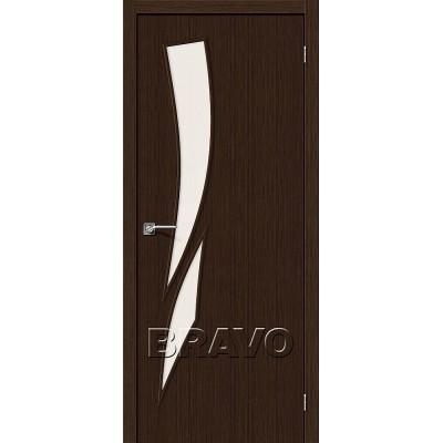 Дверь BRAVO Мастер-10 ДО 3D Wenge со стеклом Magic Fog
