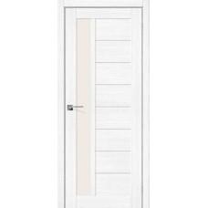 Дверь экошпон BRAVO el'PORTA Порта-27 ДО Snow Veralinga со стеклом Magic Fog