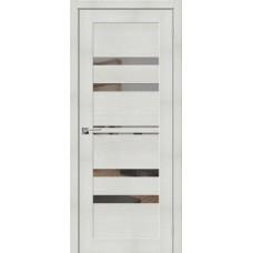 Дверь экошпон BRAVO el'PORTA Порта-30 ДО Bianco Veralinga со стеклом Mirox Grey