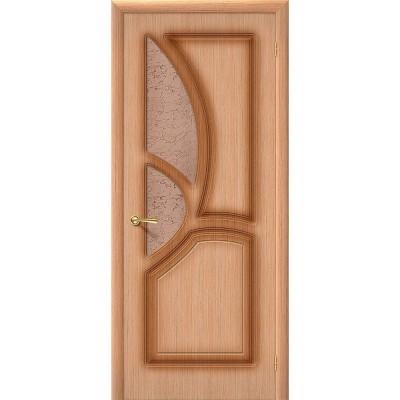 Дверь шпонированная BRAVO Греция ДО Ф-01 Дуб со стеклом 121