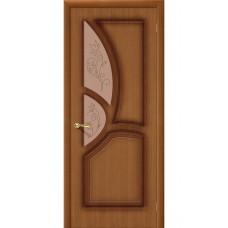 Дверь шпонированная BRAVO Греция ДО Ф-11 Орех со стеклом художественным