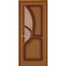 Дверь шпонированная BRAVO Греция ДО Ф-11 Орех со стеклом 121