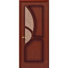 Дверь шпонированная BRAVO Греция ДО Ф-15 Макоре со стеклом художественным