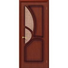 Дверь шпонированная BRAVO Греция ДО Ф-15 Макоре со стеклом 121
