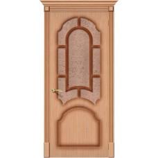Дверь шпонированная BRAVO Соната ДО Ф-01 Дуб со стеклом 121