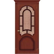 Дверь шпонированная BRAVO Соната ДО Ф-15 Макоре со стеклом 121
