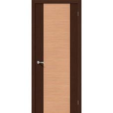 Дверь шпонированная BRAVO Этюд ДГ Ф-27 Венге / Ф-01 Дуб