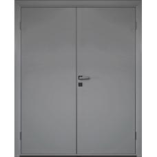 Дверь пластиковая Etadoor ДГ Cветло-серый RAL 7035 двустворчатая