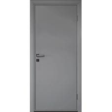 Дверь пластиковая Etadoor ДГ Cветло-серый RAL 7035