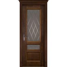 Дверь шпон дуба ОКА Аристократ ДО 3 Античный орех