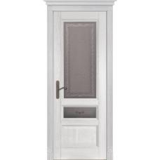 Дверь шпон дуба ОКА Аристократ 3 ДО Белый