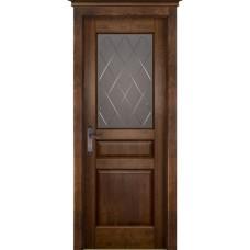 Дверь массив ольхи ОКА Валенсия ДО Античный орех