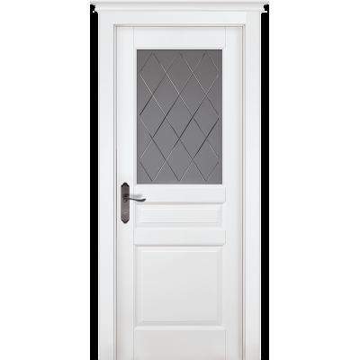 Дверь массив ольхи ОКА Валенсия ДО Эмаль белая