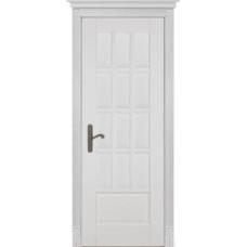 Дверь массив ольхи ОКА Лондон 1 ДГ Эмаль белая