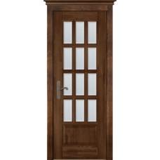 Дверь массив ольхи ОКА Лондон 1 ДО Античный орех