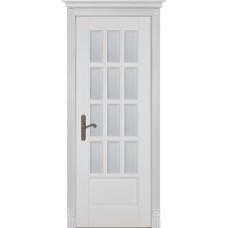 Дверь массив ольхи ОКА Лондон 1 ДО Эмаль белая