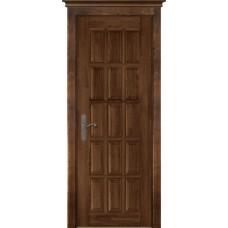 Дверь массив ольхи ОКА Лондон 2 ДГ Античный орех