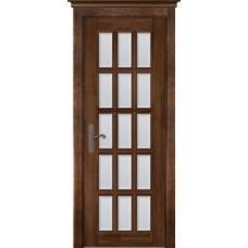 Дверь массив ольхи ОКА Лондон 2 ДО Античный орех