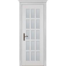 Дверь массив ольхи ОКА Лондон 2 ДО Эмаль белая