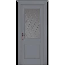 Дверь массив ольхи ОКА Элегия ДО Эмаль грей