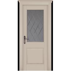 Дверь массив ольхи ОКА Элегия ДО Эмаль крем