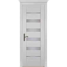 Дверь массив сосны браш ОКА Альта ДО Эмаль белая