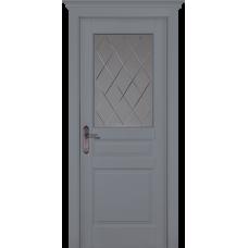 Дверь массив сосны браш ОКА Валенсия ДО Эмаль грей