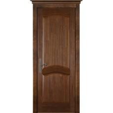 Дверь массив сосны браш ОКА Лео ДГ Античный орех