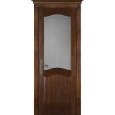 Дверь массив сосны браш ОКА Лео ДО Античный орех