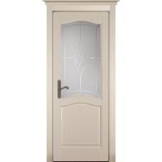Дверь массив сосны браш ОКА Лео ДО Эмаль крем