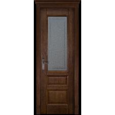 Белорусская дверь массив дуба Мильяна ОКА Аристократ 2 ДО Античный орех