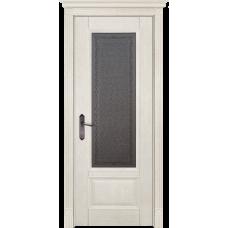 Белорусская дверь массив дуба Мильяна ОКА Аристократ 4 ДО Эмаль слоновая кость