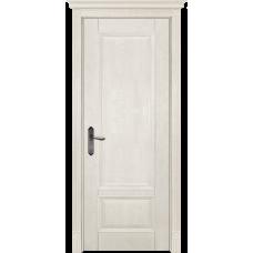 Белорусская дверь массив дуба Мильяна ОКА Аристократ 4 ДГ Эмаль слоновая кость