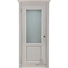 Дверь массив дуба Двери Регионов Ока Селена ДО Эмаль слоновая кость