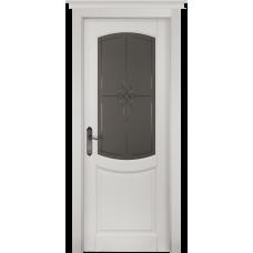Белорусская дверь массив ольхи Герда Мильяна ОКА Бристоль ДО Эмаль белая