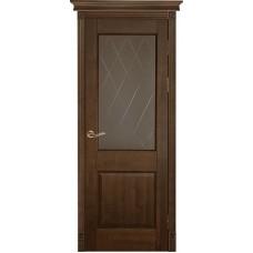 Дверь массив ольхи Рубин Элегия ДО Античный орех