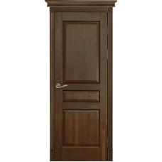 Дверь массив ольхи Рубин Валенсия ДГ Античный орех