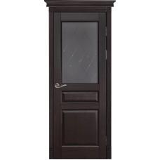 Дверь массив ольхи Рубин Валенсия ДО Венге