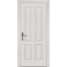 Белорусская дверь массив ольхи Мильяна ОКА Ретро ДГ Эмаль белая