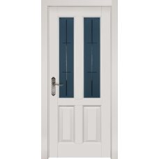 Белорусская дверь массив ольхи Мильяна ОКА Ретро ДО Эмаль белая