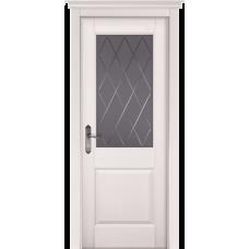 Белорусская дверь массив сосны Мильяна ОКА Элегия ДО Эмаль белая