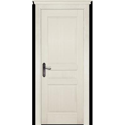 Дверь массив сосны браш ОКА Валенсия ДГ Эмаль слоновая кость
