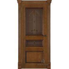 Дверь RegiDoors Барселона ДО Patina Antico с витражом Бавария