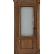 Дверь RegiDoors Корсика ДО Patina Antico со стеклом Квадро