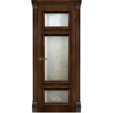 Дверь RegiDoors Мадрид ДО Brandy с витражом Мираж